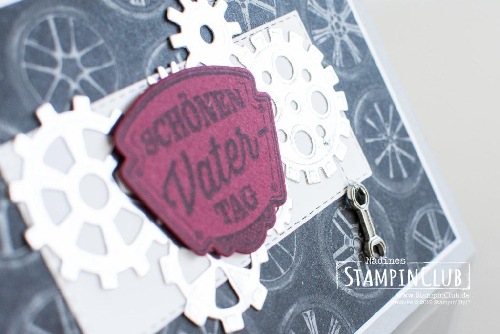 Werkzeugteile, Stampin' Up!, StampinClub, Werkstattworte, Thinlits Formen Werkzeugteile, Designerpapier In der Werkstatt