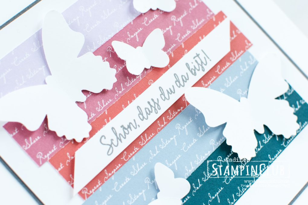 Stampin' Up!, StampinClub, Designerpapier In Color 2019-2021, 2019-2021 In Color DSP, Schmetterlingsglück, Stanze Schmetterlingsduett