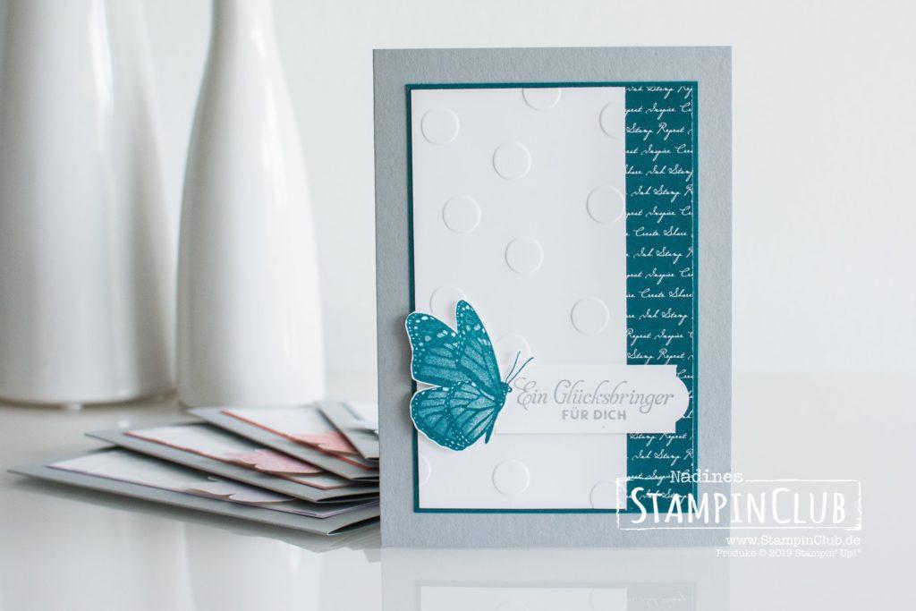Stampin' Up!, StampinClub, Schwärme voll Glück, Butterfly Wishes, Gut gepunktet