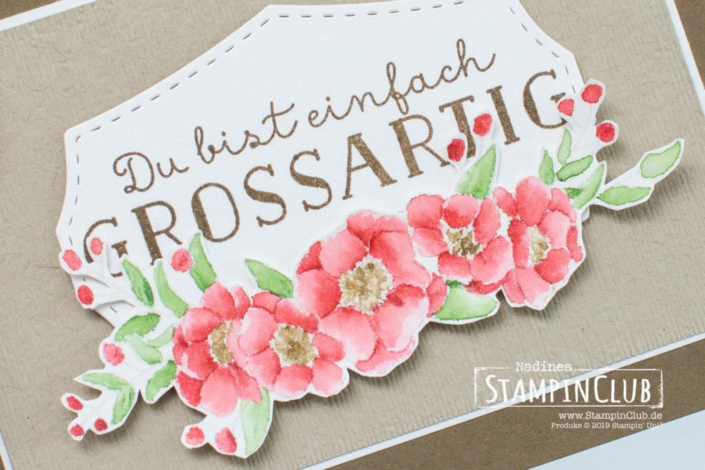 Stampin' Up!, StampinClub, No Line Watercoloring, Strauß lieber Wünsche, Bloom & Grow