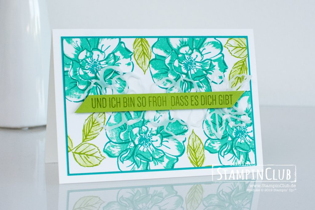 Stampin' Up!, StampinClub, Wilde Rose, To a Wild Rose, Stanzformen Wildrosentraum, Wild Rose Dies
