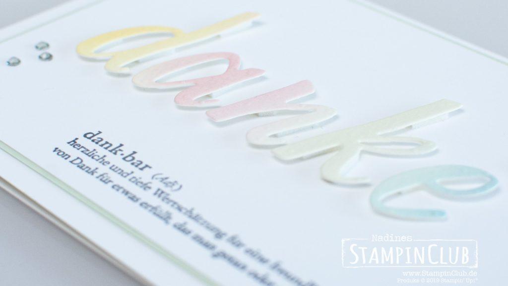 Stampin' Up!, StampinClub, Gut definiert, Praiseworthy Prose, Stanzformen Handgeschrieben, Hand-Lettered Prose Dies