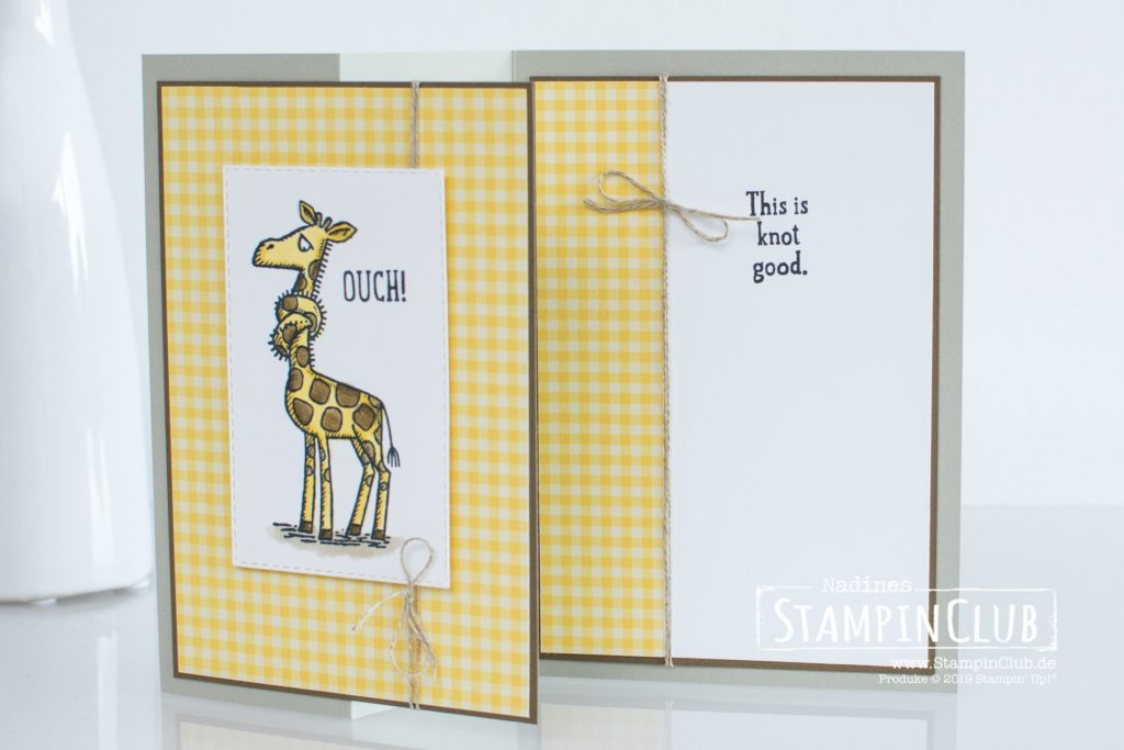 Giraffe, Stampin' Up!, StampinClub, Back on your feet