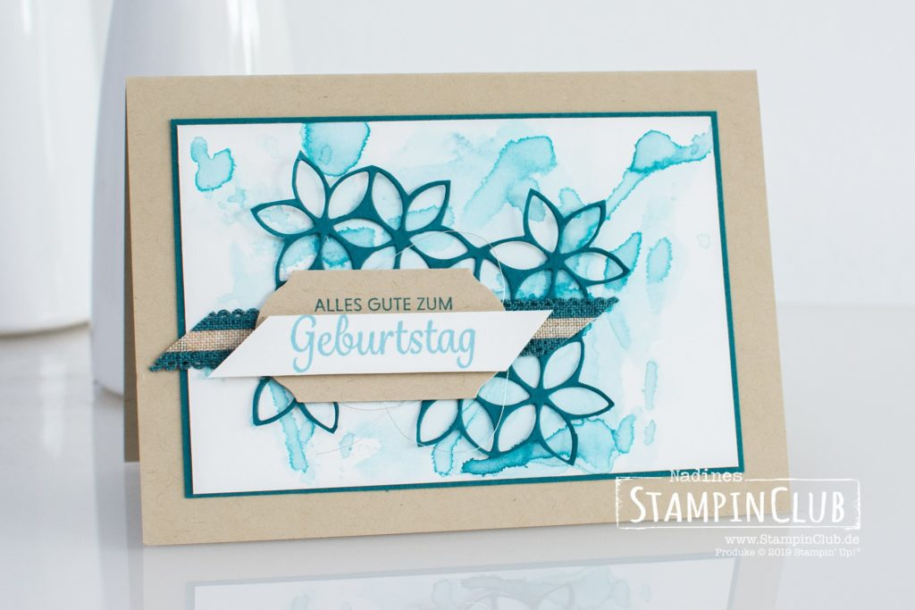 Stampin' Up!, StampinClub, Stanzformen Herrliche Hintergründe, Tasteful Backgrounds Dies, Karte Diem, Here's a Card, Stanze Zeitloses Etikett, Timeless Label