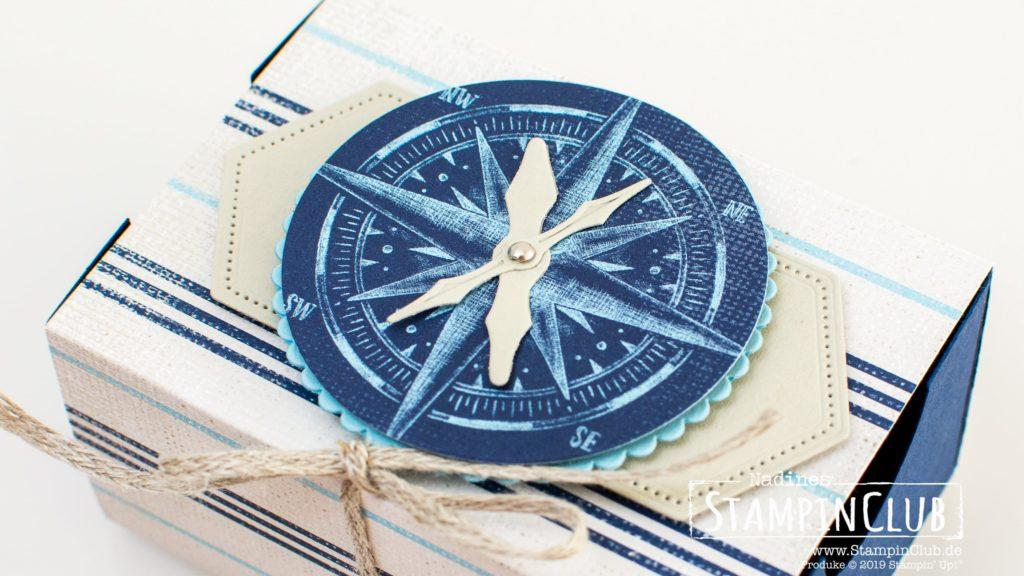 Stampin' Up!, StampinClub, Verpackung, Designerpapier Meer der Möglichkeiten, Kompass