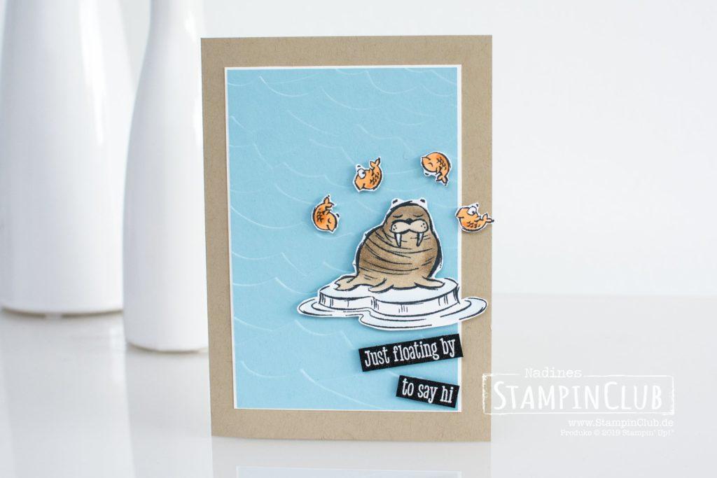 Stampin' Up!, StampinClub, We'll Walrus be Friends, Prägeform Stürmische See 3D, High Seas 3D Embossing Folder, Stampin' Blends