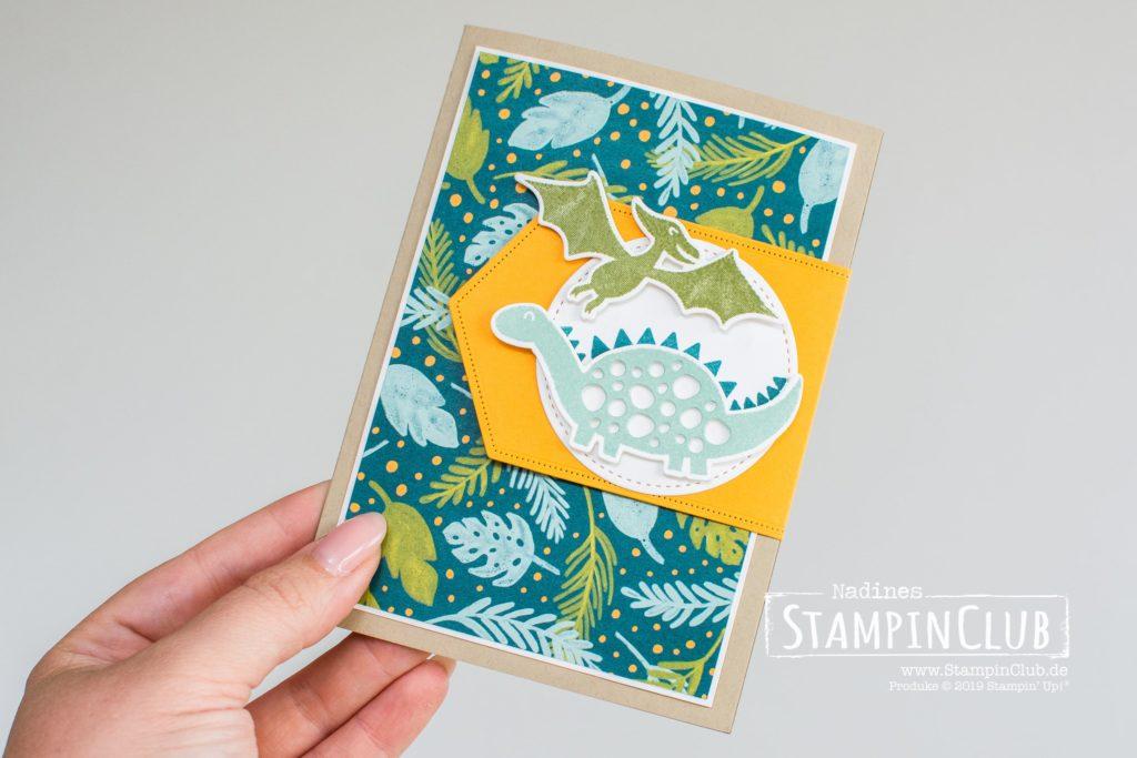 Stampin' Up!, StampinClub, Dufte Dinos, Dino Days, Stanzformen Dinos, Dino Dies, Designerpapier Im Dino-Land, Dinoroar DSP