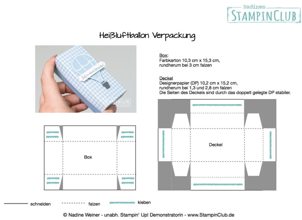 Heißluftballon Verpackung, Anleitung Stampin' Up!, StampinClub