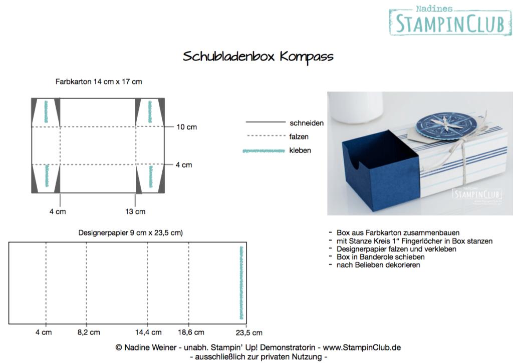 Schubladenbox Kompass Anleitung mit Stampin' Up! Produkten