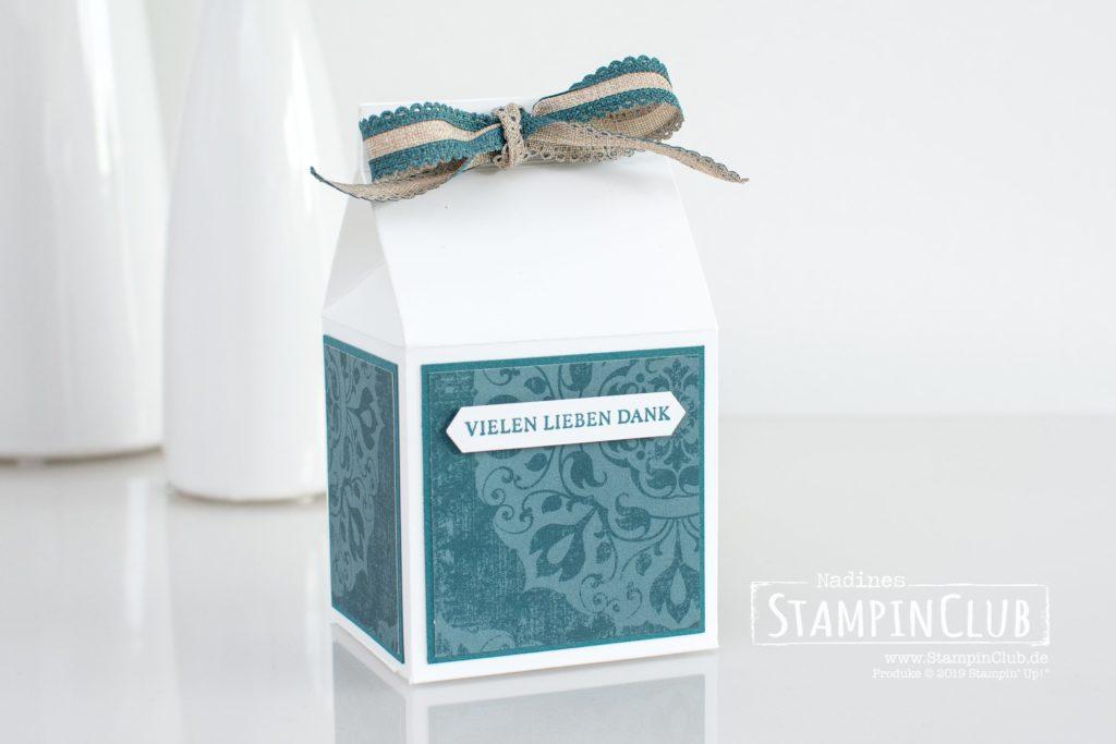Stampin' Up!, StampinClub, Milchkarton Verpackung, Gewebte Worte, Designerpapier Vintage Flair