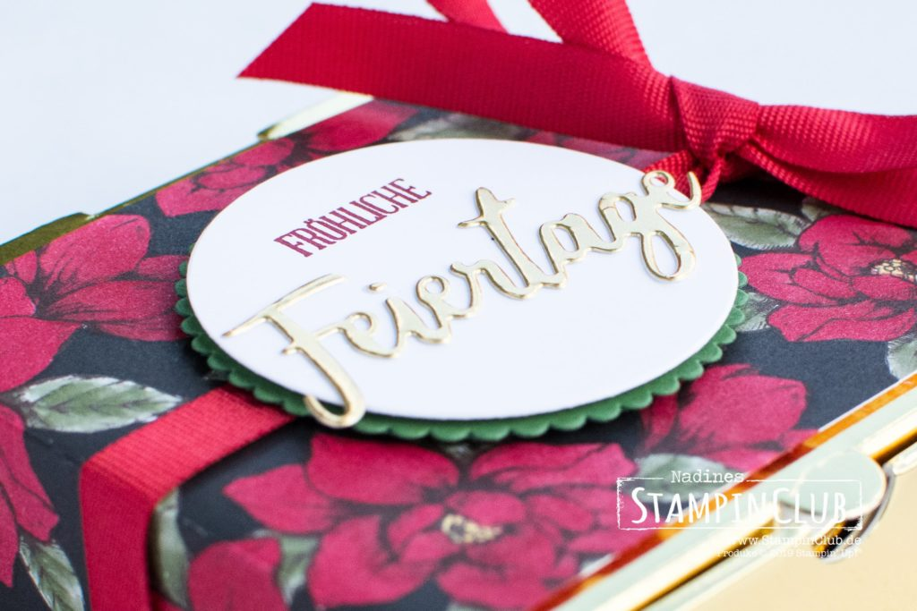 Stampin' Up!, StampinClub, Mini-Pizzaschachteln in Gold, Gold Mini Pizza Boxes, Jahr voller Grüße, A wish for everything, Stanzformen Wunschworte, Word Wishes Dies