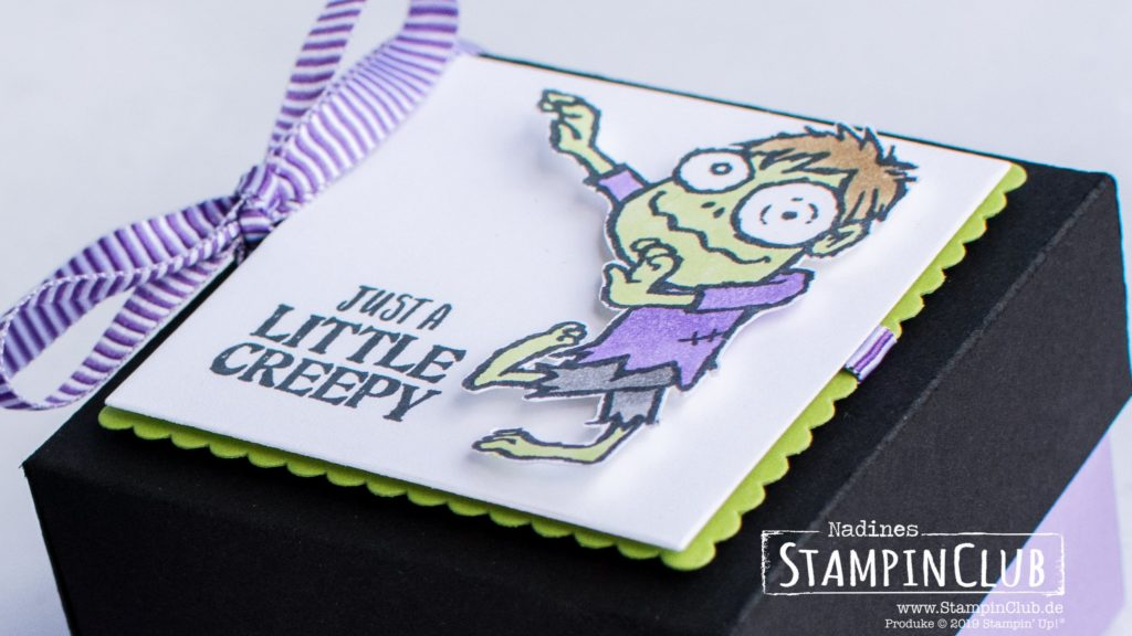 Stampin' Up!, StampinClub, Monster-Box, Boo to You, Halloween Verpackung, Anleitung