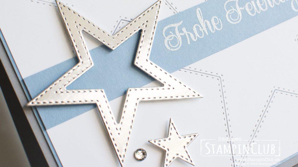 Stampin' Up!, StampinClub, Sternenglanz, So many stars, Stanzformen Bestickte Sterne, Stitched Stars Dies