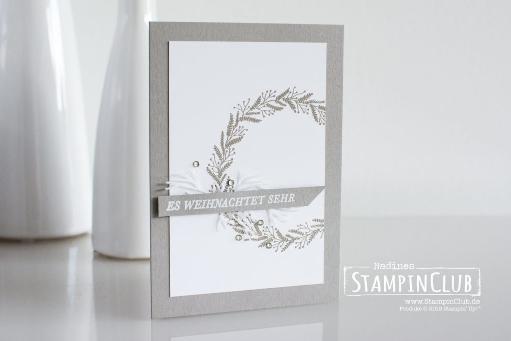 Stampin' Up!, StampinClub, Weihnachtskarte, Kranz voller Freude, Tidings all around