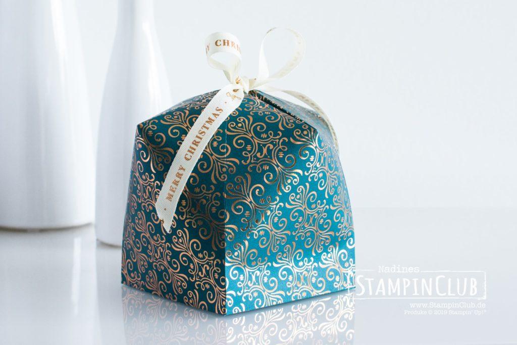 Stampin' Up!, StampinClub, Kuppel-Box, Dome box, Verpackung, Besonderes Designerpapier Im schönsten Glanz, Brightly Gleaming Speciality DSP