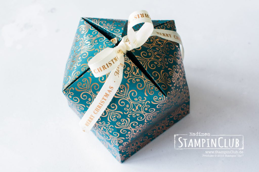 XXL Kuppelbox, Stampin' Up!, StampinClub, Kuppel-Box, Dome box, Verpackung, Besonderes Designerpapier Im schönsten Glanz, Brightly Gleaming Speciality DSP