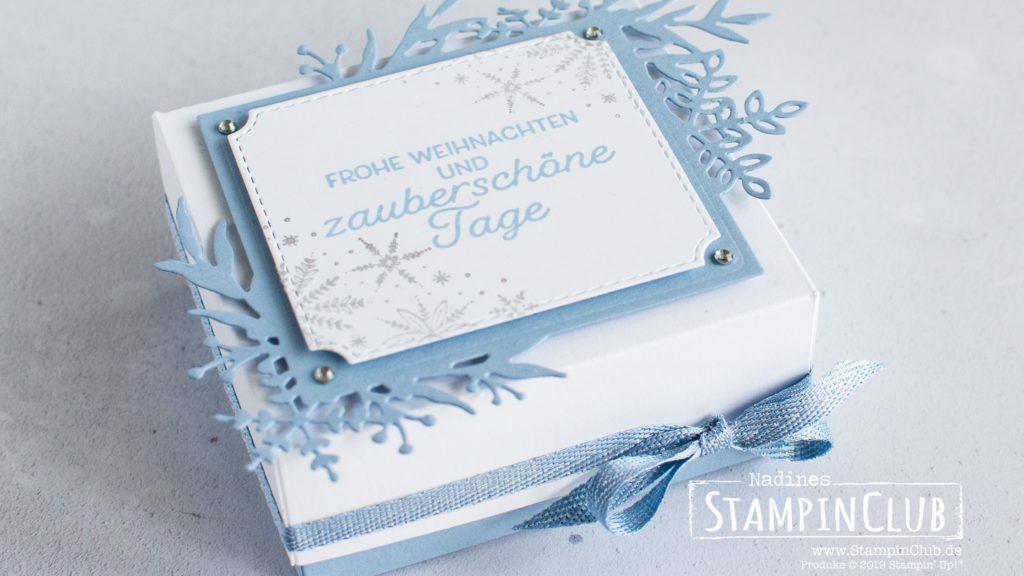 Stampin' Up!, StampinClub, Verpackung, Winterzweige, Frosted Foliage, Stanzformen Winterrahmen, Frosted Frames Dies