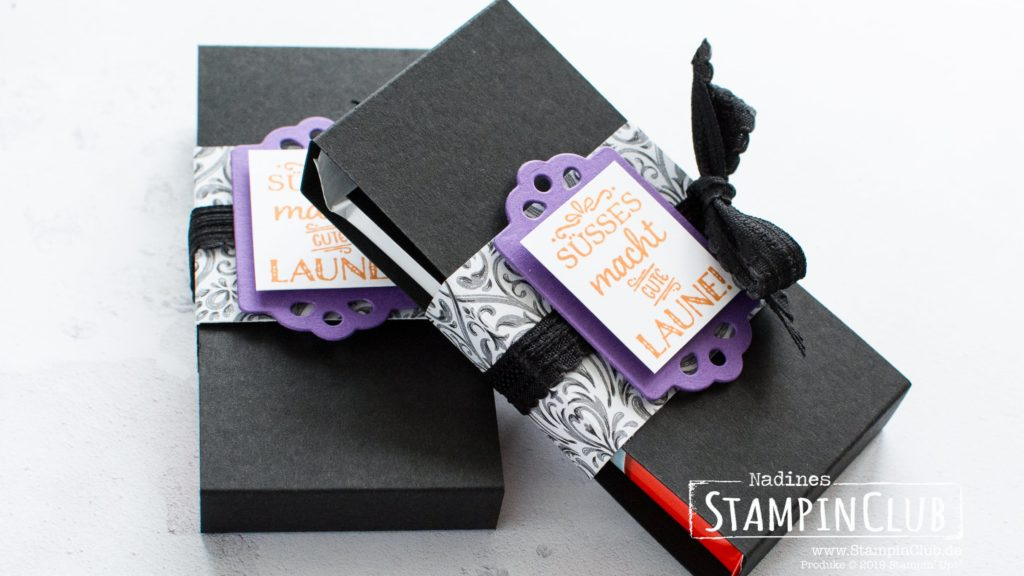 Stampin' Up!, StampinClub, Designerpapier Monsterparty, Etiketten-Mix, Tags Tags Tags, Stanzformen Anhängertrio, Trio of Tags Dies