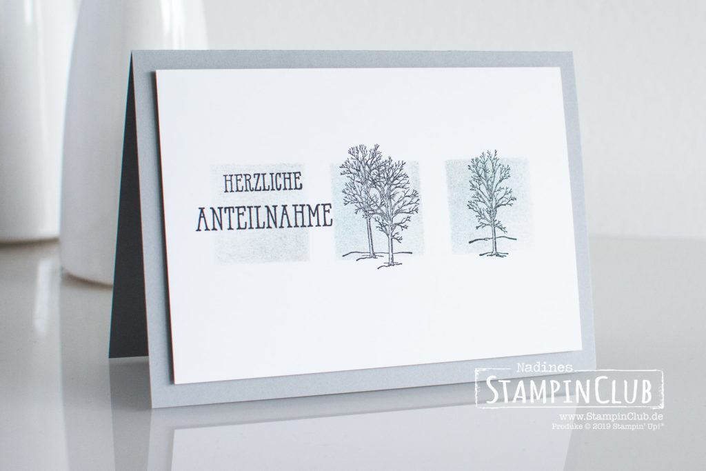 Stampin' Up!, StampinClub, Trauerkarte, Nature's Beauty, Gut gesagt, Well said