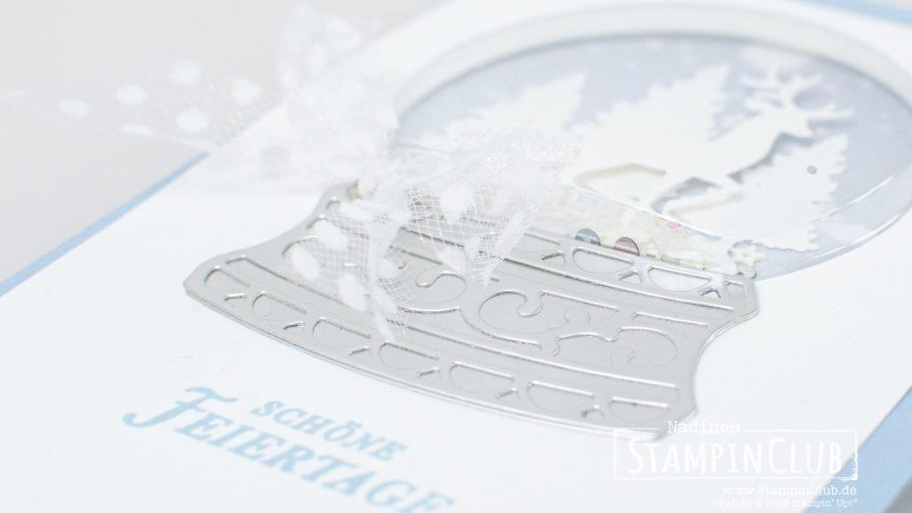Stampin' Up!, StampinClub, Stanzformen Schneekugel, Snow Globe Scenes Dies, Kranz voller Grüße, Tidings all Around