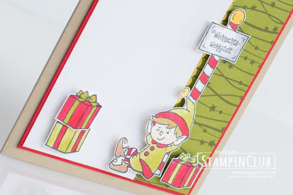 Stampin' Up!, StampinClub, #Weihnachtself, #elfie, Designerpapier Weihnachtsabend, Night Before Christmas DSP, Stampin' Blends
