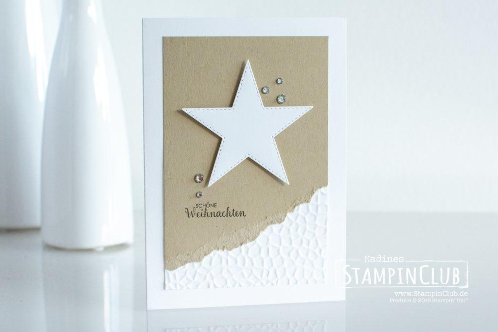 Stampin' Up!, StampinClub, 3D Prägeform Hammerschlag, Weihnachtsmix, Stanzformen bestickte Sterne