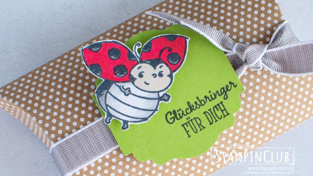 Stampin' Up!, StampinClub, Glückskäfer, Little Ladybug, Stanze Entzückendes Etikett, Label Me Lovely Punch