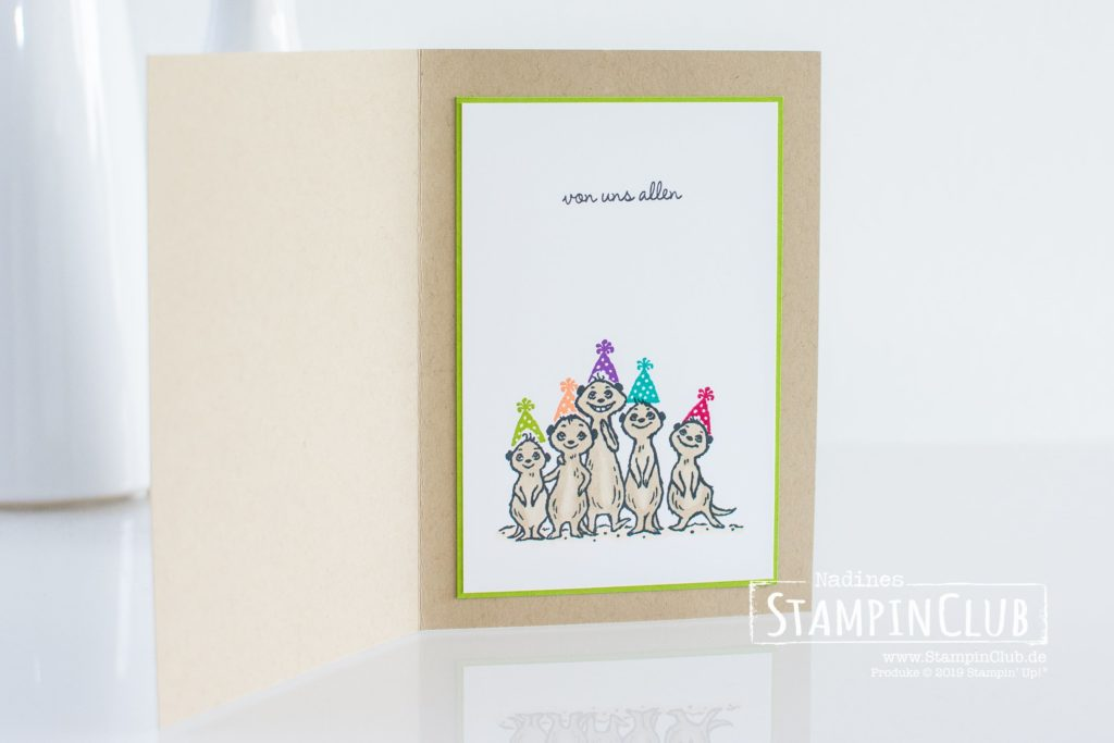 Von uns allen, Stampin' Up!, StampinClub, Sale-A-Bration, Sale-A-Bration 2020, Von und allen, The Gang's all Meer
