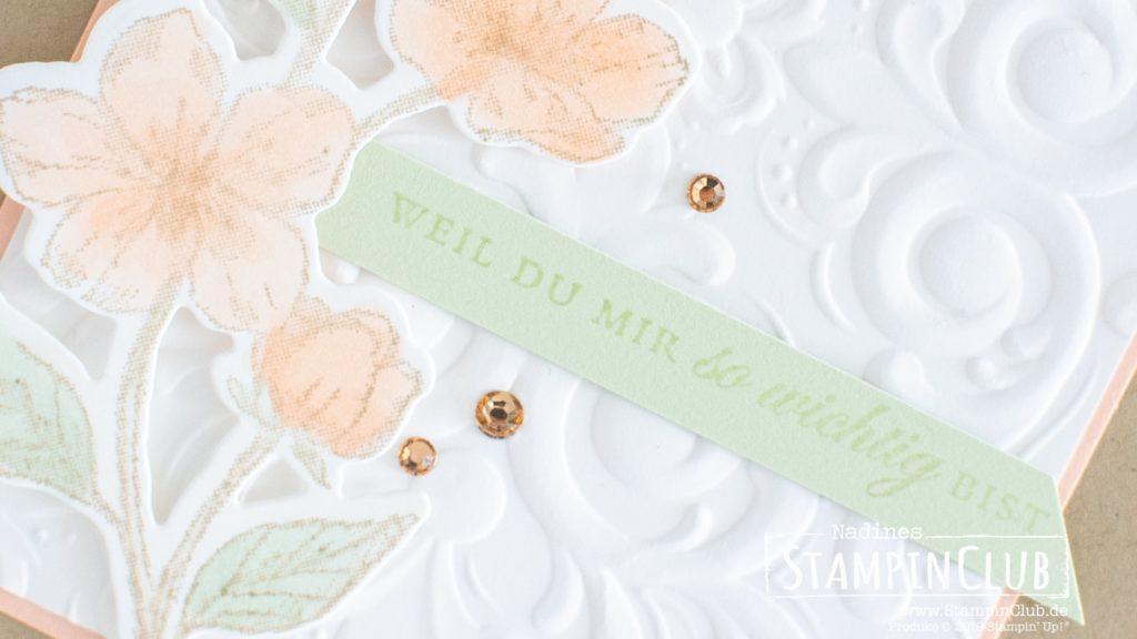 Stampin' Up!, StampinClub, Ewige Blüten, Forever Blossoms, Stanzformen Kirschblüten, Cherry Blossoms Dies, 3D Prägeform Pariser Schnörkel, Parisian Flourish 3D Embossing Folder