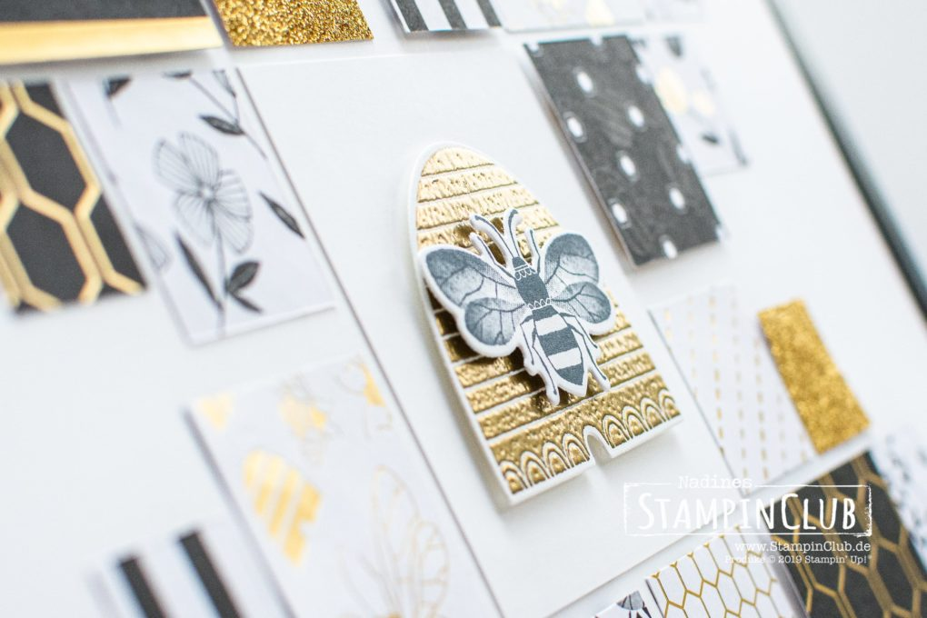 Stampin' Up!, StampinClub, Home Decor, Deko, Honey Bee, Besonderes Designerpapier Bienengold, Golden Honey Speciality DSP