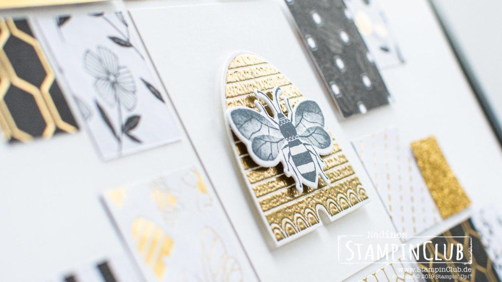 Stampin' Up!, StampinClub, Home Decor, Deko, Honey Bee, Besonderes Designerpapier Bienengold, Golden Honey Speciality DSP