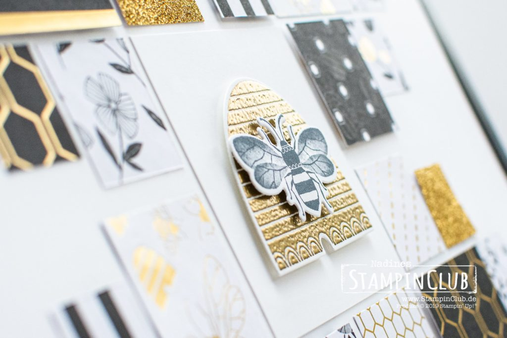 Honey Bee, Stampin' Up!, StampinClub, Home Decor, Deko, Honey Bee, Besonderes Designerpapier Bienengold, Golden Honey Speciality DSP