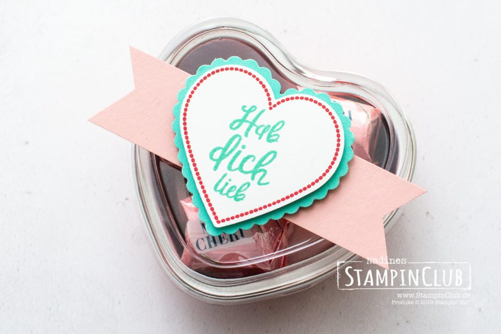 Stampin' Up!, StampinClub, Herzlich, Heartfelt, Stanzenpaket Herzen, Heart Punch Pack, Metallic-Dosen in Herzform, Heart Foil Tins