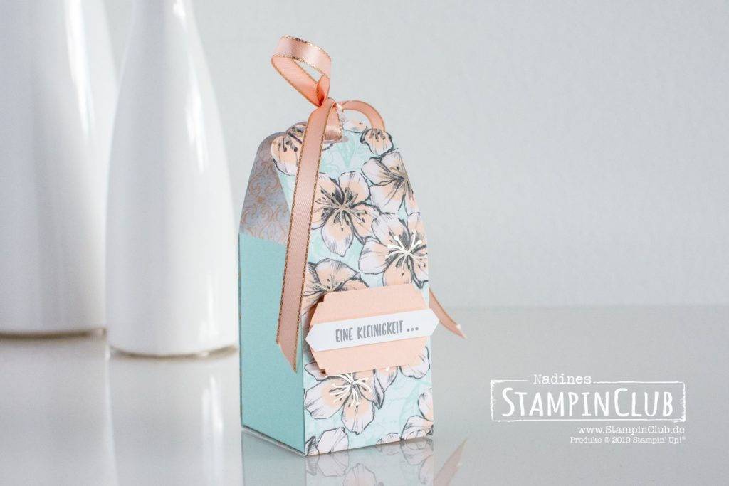 Stampin' Up!, StampinClub, Besonderes Designerpapier Frühling in Paris, Parisian Blossoms Speciality DSP, Liebe Gedanken, Sending you Thoughts, Stanze Apartes Etikett, Label me Fany Punch