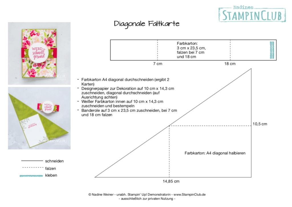 Diagonale Faltkarte