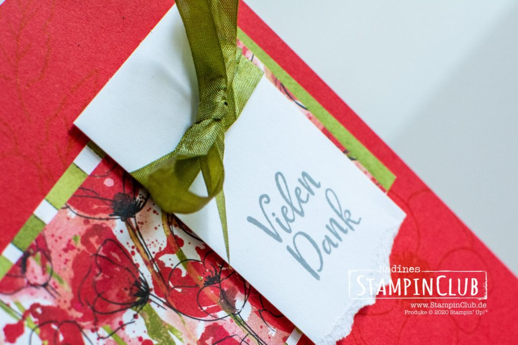 Stampin' Up!, StampinClub, Designerpapier Mohnblütenzauber, Painted Poppies, Besondere Momente