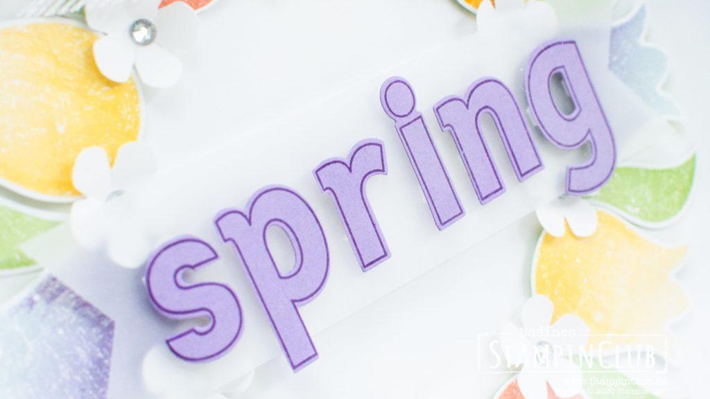 Stampin' Up!, StampinClub, Lined Alphabet, Deko, Home decor, Ribba, Elementstanze Tulpe, Designerpapier Wunderbar ausstanzbar