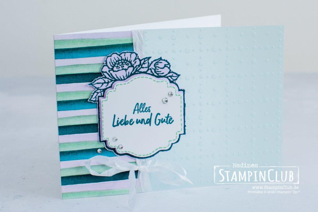 Stampin' Up!, StampinClub, Florale Etiketten, Tags in Bloom, Besonderes Designerpapier Pergamentpassion, So very Vellum Speciality DSP, Stanze Entzückendes Etikett, Designerpapier Mit Stil und Klasse