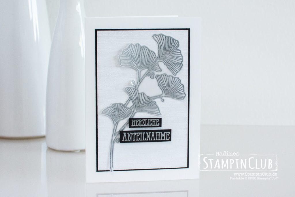 Stampin' Up!, StampinClub, Grazil geflochten, Beautiful Braided, Trauerkarte, Kondolenzkarte