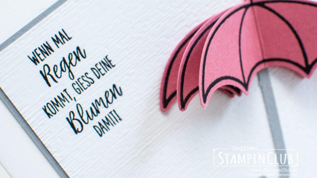 Stampin' Up!, StampinClub, Glücksregen, Under my Umbrella, Elementstanze Regenschirm, Umbrella Builder Punch, 3D Stanzen
