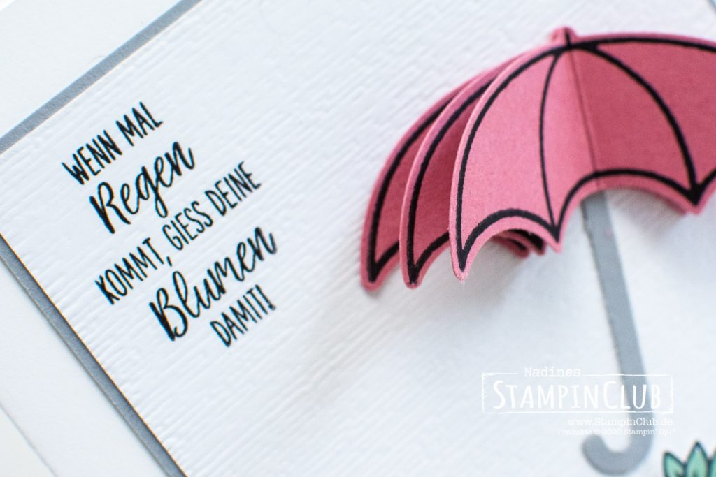 3D Stanzteile, Stampin' Up!, StampinClub, Glücksregen, Under my Umbrella, Elementstanze Regenschirm, Umbrella Builder Punch, 3D Stanzen