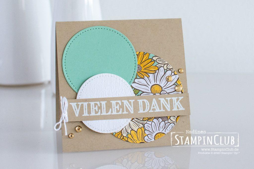 Stampin' Up!, StampinClub, Dekoratives Dankeschön, Ornate Thanks, Besonderes Designerpapier Schöner Garten, Ornate Garden Speciality DSP