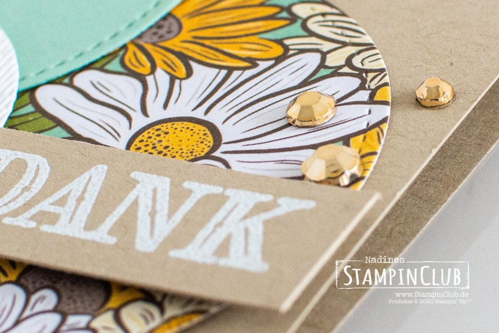 Vergoldeten Schmucksteine, Stampin' Up!, StampinClub, Dekoratives Dankeschön, Ornate Thanks, Besonderes Designerpapier Schöner Garten, Ornate Garden Speciality DSP