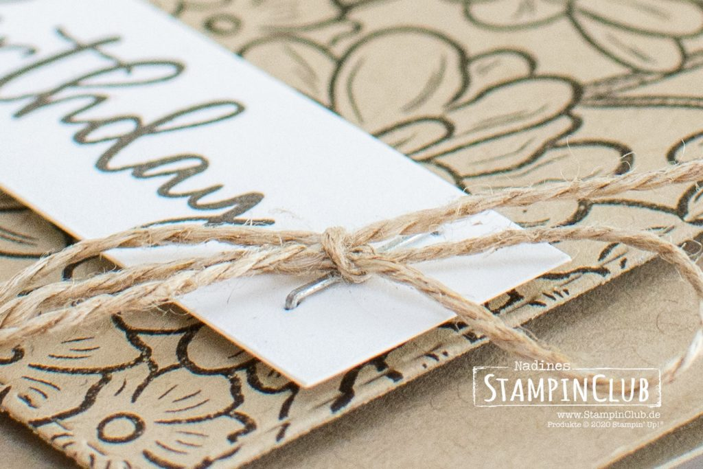 Stampin' Up!, StampinClub, Ornate Style, Music from the Heart, Bestickte Rechtecke