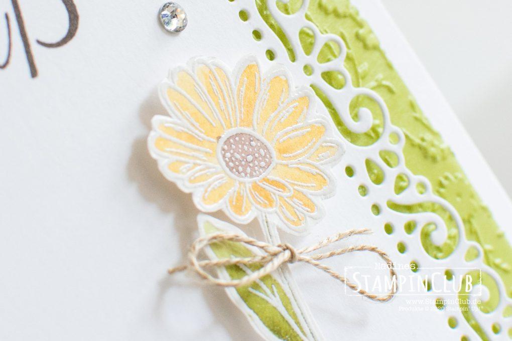 Stampin' Up!, StampinClub, Stanzformen Dekorative Rahmen, Ornate Layers Dies, Ornate Style, Blühende Worte, 3D Prägeform Blumenmeer, Ornate Floral 3D Embossing Folder