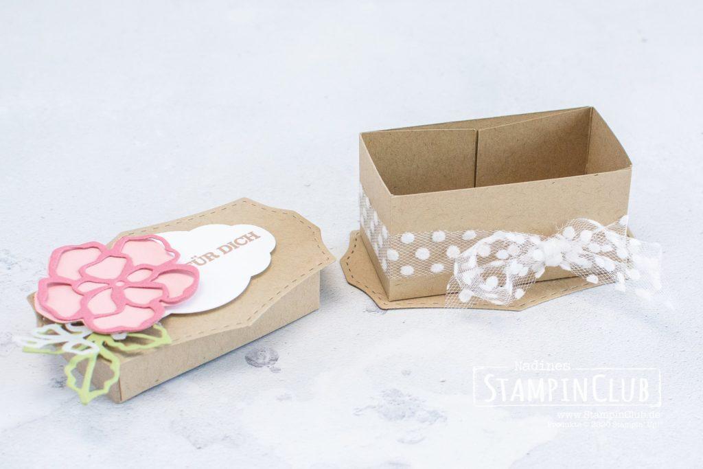 Wildrosentraum-Box, Stampin' Up!, StampinClub, Verpackung, Stanzformen Wildrosentraum, Zum Geburtstag für dich, Stanze Zier-Etikett
