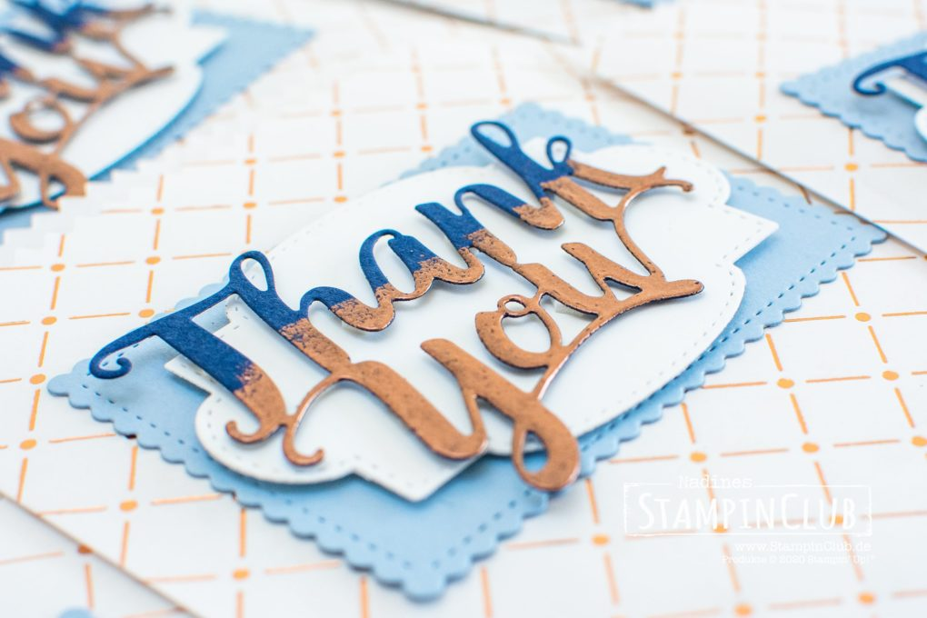 Stampin' Up!, StampinClub, Stanzform Thank You, Thank You Dies, Embossing, Goodies