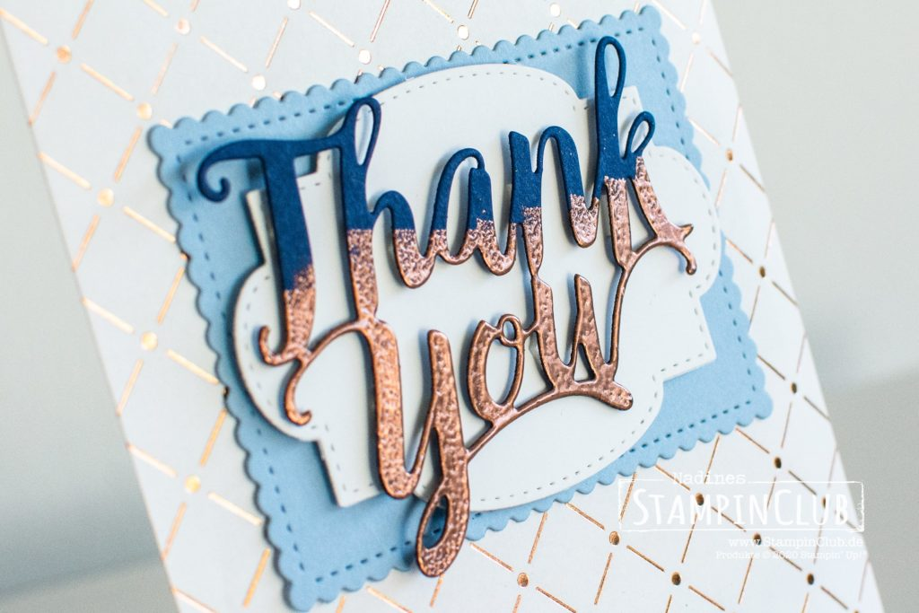 Teil-embossen, Stampin' Up!, StampinClub, Stanzform Thank You, Thank You Dies, Embossing, Goodies