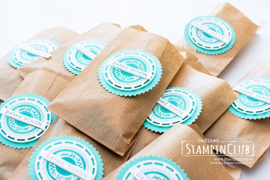Stampin' Up!, StampinClub, Stanzformen Bestickte Etiketten, Bestickte Grüße