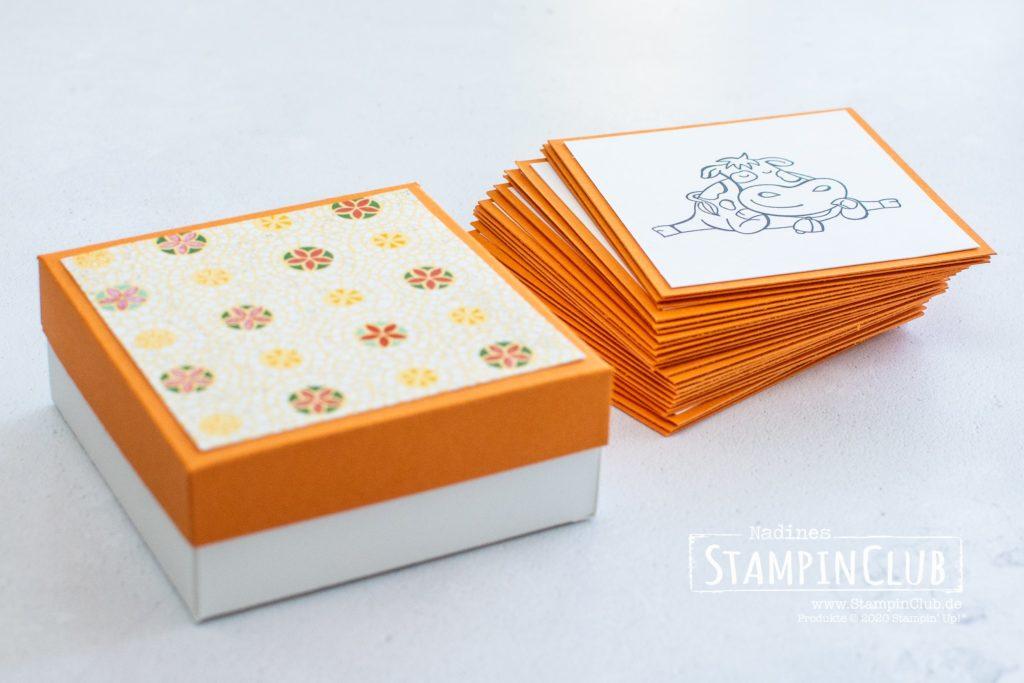 Stampin' Up!, StampinClub, Gedächtnisspiel, Memory basteln, Besonderes Designerpapier Märchenhaftes Mosaik, Bastelanleitung